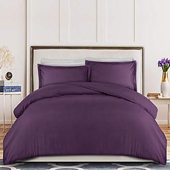 queen duvet cover purple