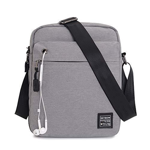 Vodabang Schultertasche Herren Klein Umhängetasche Männer Messenger Bag Tablet Schultertaschen