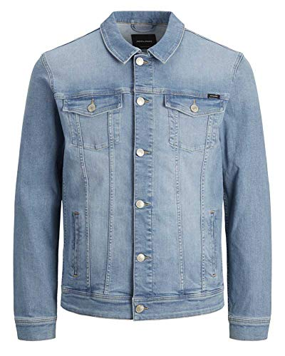 JACK & JONES Mens JJIALVIN JJJACKET AGI 002 Jacket, Blue Denim, M