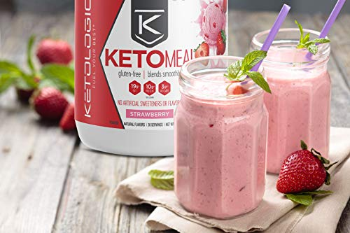 KetoLogic Keto Meal Replacement Shake Powder: Strawberry (20 Servings) – Low Carb, Keto Shake Rich In MCT Oil, Healthy Fats and Whey Protein - Formulated Macros Support Keto Diet & Ketosis 8
