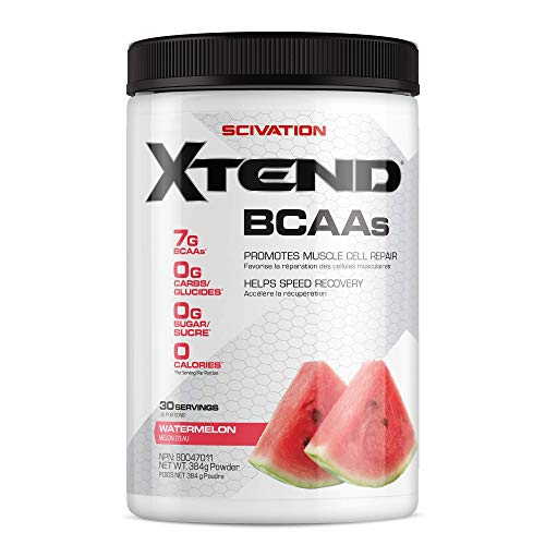 XTEND Original BCAA Powder Watermelon | Sugar Free Post Workout Muscle Recovery Drink with Amino Acids | 7g BCAAs for Men & Women | 30 Servings