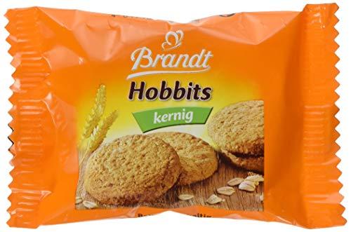 Brandt Hobbits Kernig - 2er Packs - Cateringkarton mit 60 Packungen - ballaststoffreicher Vollkornkeks mit Haferflocken (60 x 22,8 g)
