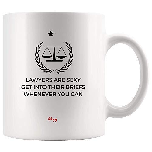 Coffee Mug Anwalt Sexy Holen Sie Sich Briefs, Wann Immer Anwalt Rechtsanwalt Bier Tasse Student Law School Legal Paralegal Court Sarkasmus Zitate Meme Inspirational Frauen 330Ml Mä