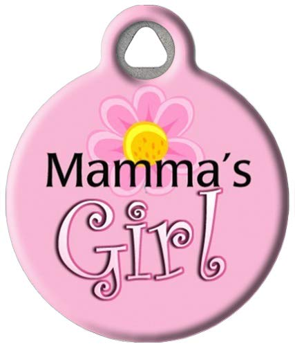 Dog Tag Art Custom Pet ID Tag for Dogs - Mama's Girl - Large - 1.25 inch