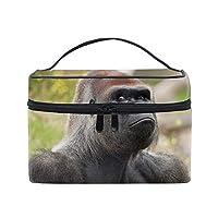 便携式ゴリラ メイクボックス 收納抜群 大容量 可愛い 化粧バッグ 旅行