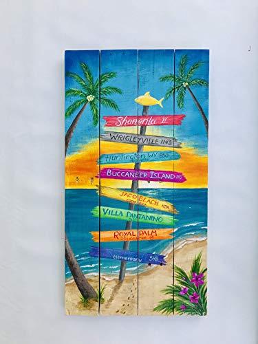 onbekend Wall Art gepersonaliseerd Tiki Bar teken, Tropisch hout teken, Tiki Bar teken, zwembad huis Tiki teken, Key West teken, palet hout teken, Margaritaville teken hout plaque, custom gift