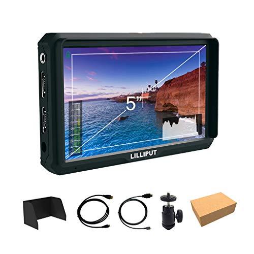 Lilliput A5 5 pulgadas 1920x1080 HD 441ppi IPS DSLR Camera Field Monitor 4K HDMI Input output GH5 GH5s A7 A7R A7S III A9 DSLR Zhiyun Crane 2 M TILTA G2X Ronin-S
