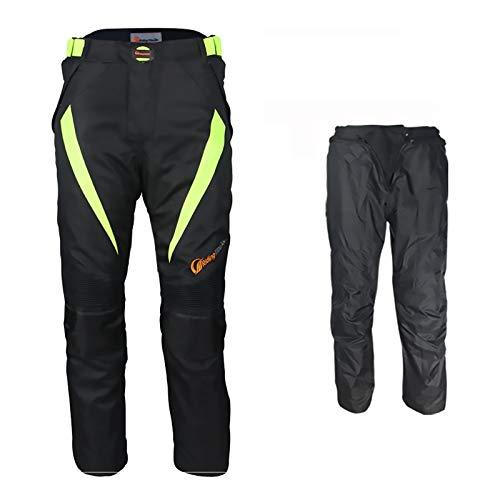 Pantalones LKN unisex con protecciones para motoristas de primavera y verano con forro extraíble impermeable.