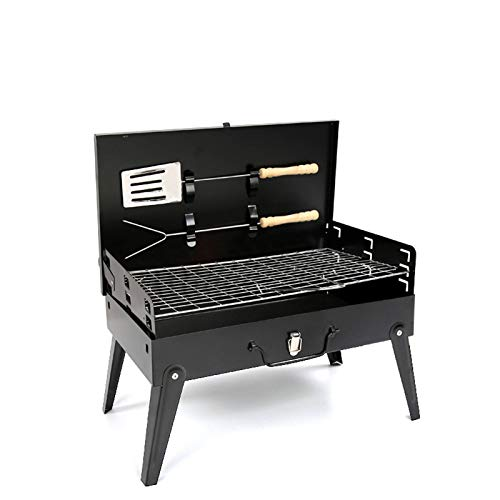 ZXWNB Folding BBQ Charcoal Grill Portable Lightweight Bbq Grill with Lid Abletop Barbecue Grill Charcoal Grill with Suitcase Outdoor Cooking Camping Picnic Patio Backyard Barbecue Grill
