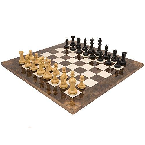 The Regency Chess Company Ltd The Monarch EBANO E NOCE GRAND lusso Set di scacchi