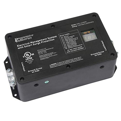 Progressive Industries 30 Amp Hardwired RV Electrical Management System Surge Protector With Integrated Display (1 MIN), EMS-LCHW30