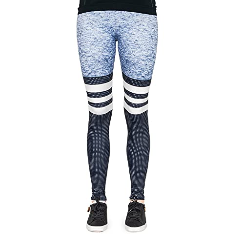 Preisvergleich Produktbild cosey Damen Stripes & Dots Schwarz-Grau Leggings