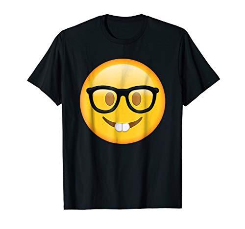 Black Emoji Shirt | Nerd Glasses Buckteeth Emoji T Shirt |