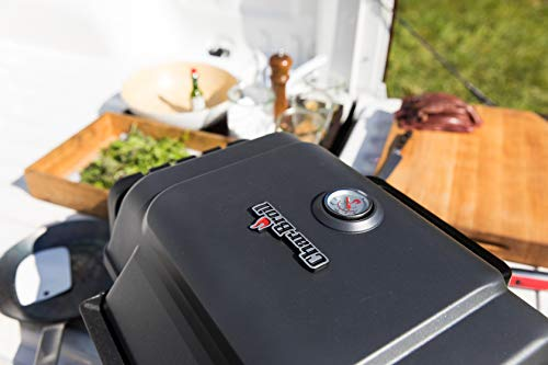 Char-Broil X200 Grill2Go - Portable Barbecue Grill with TRU-Infrared technology, Grey/ Cast aluminium.