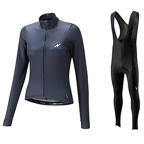 ZHBW Conjunto de Maillot de Ciclismo para Mujer, Maillot De Ciclismo para Mujer Cremallera, Camisetas Bicicleta MTB con Pantalones Cortos Gel 3D (Color : D, Tamaño : 3XL)