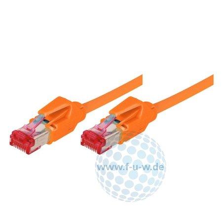Tecline Patchkabel S/FTP, PiMF, Cat 6, Orange, 50,0 m