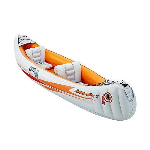 Kayak inflable plegable de ocio 2 Persona 150 Kg Capacidad de Carga de deportes de aguas bravas kayak inflable Barco 320x80cm for principiantes y profesionales ( Color : White , Size : 320x80cm )