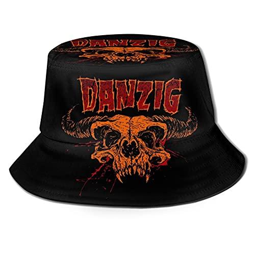 Marat Sombrero de cubo para Danzig Art 3D unisex sol al aire libre sombrero de ala ancha sombreros unisex verano pesca Cap negro