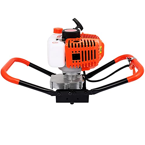 Tolsous 52cc Power Post Hole Digger Ground Drilling Machine Earth Auger Fence Hole Digger Garden Tools Powered Engine