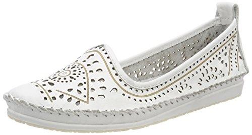 Andrea Conti Damen 0023414 Slipper, Weiß Weiß, 36 EU