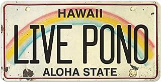 Pacifica Island Art License Plate Magnet Refrigerator Souvenir Live Pono Hawaii