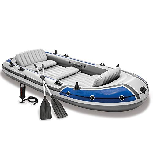 Asffdhley Angeln Schlauchboot 5 Personen Schlauchboot Schlauchboot Rettungsboot Fischerboot Drifter Serie Bootsgruppe (Color : Blue, Size : 366x168x43cm)