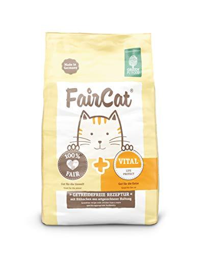 Green Petfood Faircat Vital - mit Hühnchen aus artgerechterer Haltung - 7,5 kg Katzenfutter Trocken