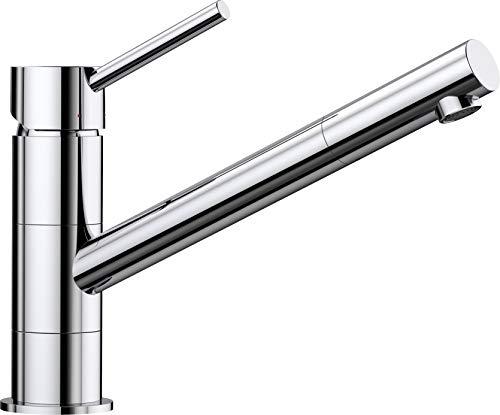 BLANCO KANO - Einhebelmischer für die Küche - mit 360° Rund-um-Schwenkbereich - Chrom - 521502