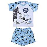CERDÁ LIFE'S LITTLE MOMENTS Pijama Verano Niño de Mickey Mouse de Color Rojo-Licencia Oficial Disney, Azul, 36 Meses para Bebés