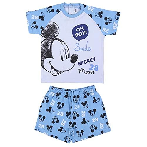CERDÁ LIFE'S LITTLE MOMENTS Pijama Verano Niño de Mickey Mouse de Color Rojo-Licencia Oficial...