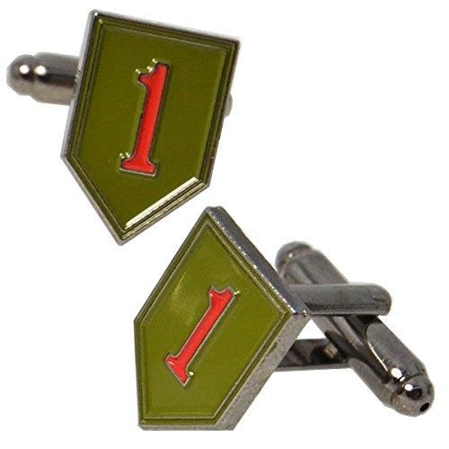 American 1. Infanterie Us Manschettenknöpfe mit Präsentationsbox