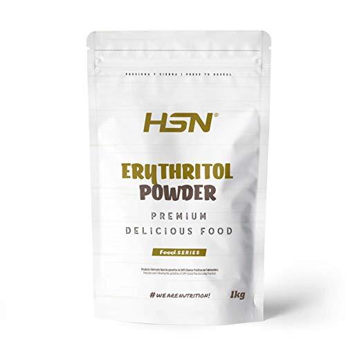Eritritol de HSN | ¡La Mejor Alternativa al Azúcar! | Edulcorante Natural Bajo en Calorías | Endulzante para Recetas Fitness | Vegano, Sin Gluten, Sin Lactosa, En Polvo, 1 Kg