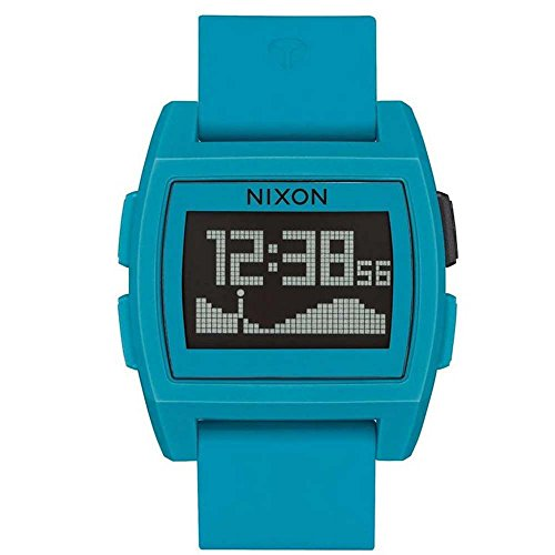 NIXON Men's Other Materials Quartz Watch with Silicone Strap, Blue, 22 (Model: Base Tide)