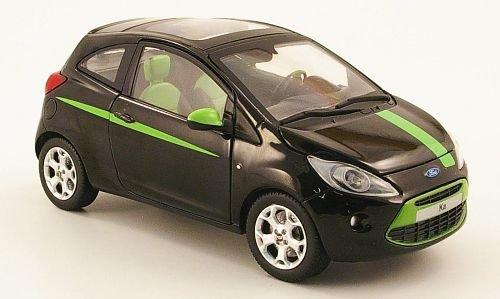 Ford Ka, Digital, schwarz/hellgrün, 2008, Modellauto, Fertigmodell, Mondo Motors 1:24