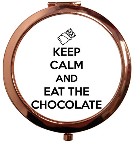 Flox Creative Miroir carré carré doré rose pour garder le calme et manger le chocolat