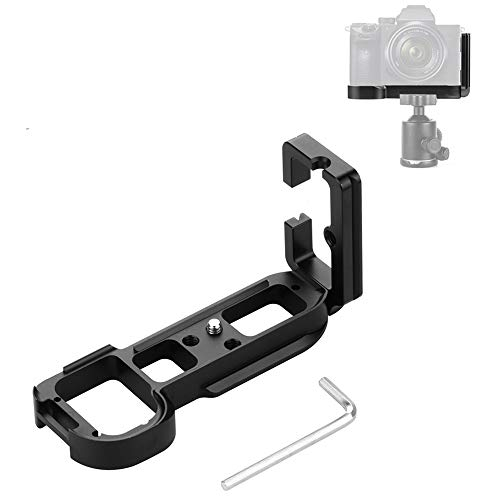 Linghuang Universal Quick Release Plate L Soporte de Camara para Sony A7R / A7 / A7R S / A7M2 Liberación rápida Soporte de Placa de Soporte de Placa L Soporte de la Base (Negro)