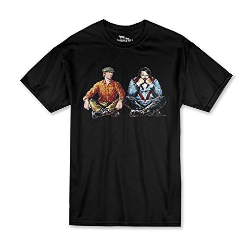 Terence Hill Bud Spencer T-Shirt Herren - Zwei wie Pech und Schwefel - Wir Lassen Bier und Würstchen entscheiden (schwarz) (XL)