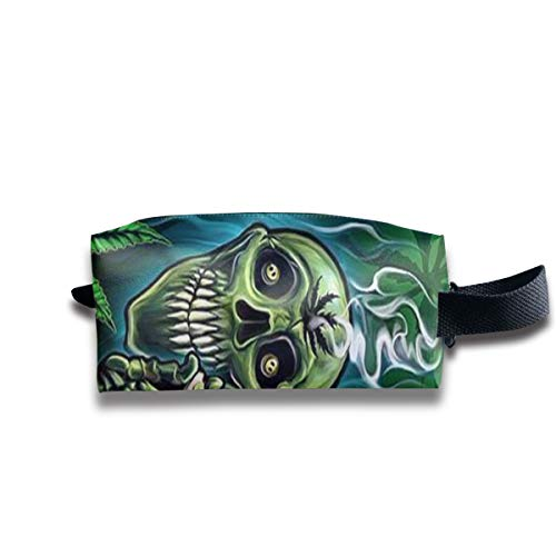 WAY.MAY Skull Smoke Weed Storage Bag Tote-Handbags Cosmetic Pouch Portable Travel Makeup Tote Bag Pen Case Bag Space Saver Bags Medicine Package Sewing Kit