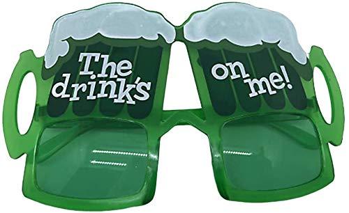 DINEGG Vidrios de la Bola del Baile Taza del día del Partido del Festival de los vidrios de la Cerveza Verde Promocional Irish Festival de San Patricio QQQNE