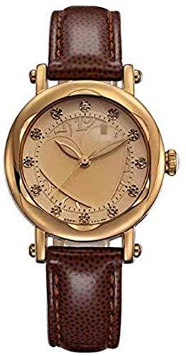 CMXUHUI Chica Reloj Regalo de cumpleaños Regalo del día de Reloj de Pulsera Reloj de Mujer Horas de Cuarzo Vestido de Moda Fino Pulsera de Reloj Cuero Hollow Heart Girl Cumpleaños Regalo 2