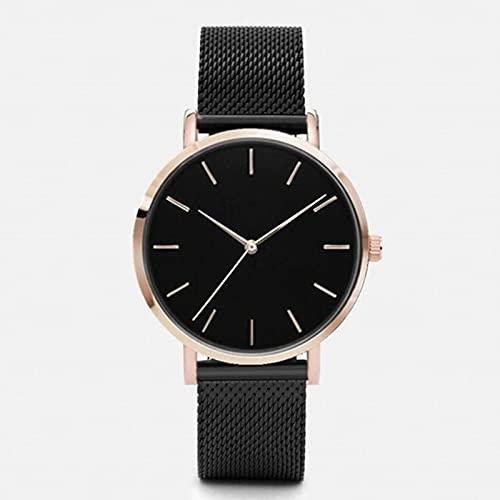 XIAOQIAO Relojes de Mujer Sencillos y de Moda, Relojes de Cuarzo para Damas, Relojes para Mujer (Color : Mesh Belt 5)