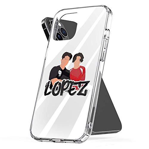 YICHIBAOEL Fundas para teléfono Pure Clear compatibles con iPhone 12/11 Pro MAX 12 Mini SE X/XS MAX XR 8 7 6 10s Plus Case-Lopez Brothers