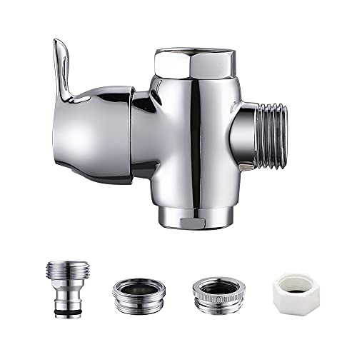 Faucet Diverter with Quick Hose Connect From Sink To Garden Hose, Faucet Diverter with Aerator for Hose Attachment for Bathroom/Kitchen