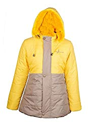 Naughty Ninos Girls Polyester Yellow Long Jacket for 2 to 12 Years