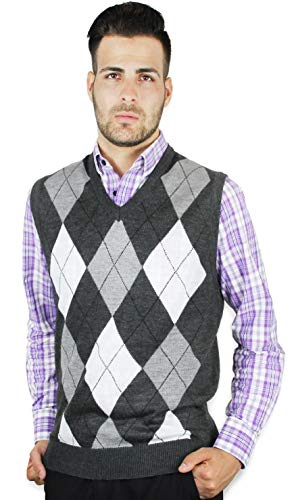 Argyle Sweaters Men's Blue