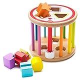 all Kids United Baby Lernspielzeug Sortierspiel aus Holz Formenrolle Sortierwürfel