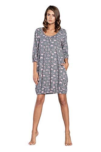 Italian Fashion IF Nachthemd Damen Geburt Stillnachthemd Mutterschaft Schwangerschaft...