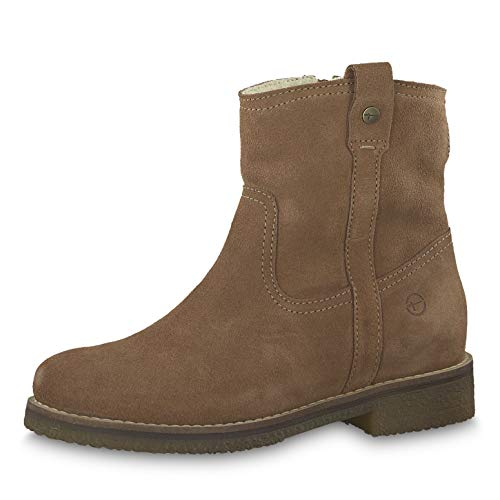 Tamaris Damen Stiefeletten 26498-23, Frauen Stiefelette, elegant Women's Woman Freizeit leger Stiefel Boots halbstiefel Bootie,Cognac,36 EU / 3.5 UK
