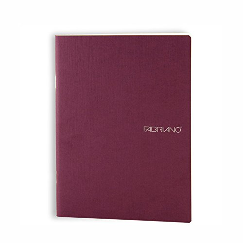 Fabriano EcoQua Notebooks staplebound Blank Wine 5.8 in. x 8.25 in.