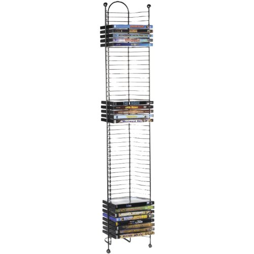 Atlantic 63712035 Nestable 52 DVD/BluRay Games Tower – Gunmetal
